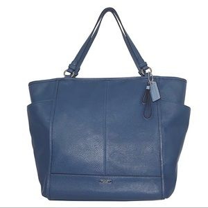 Coach Blue Leather Tote Style Purse